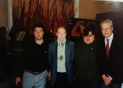 Cristian e Lorenzo insieme a due grandi disegnatori....a due grandi persone.