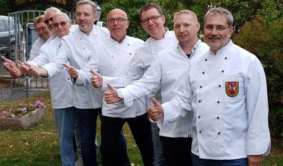 Von links nach rechts: Horst Klostermann, Heinfried Lumpe, Manfred Wagner, Michael Faulhaber, Ulrich Hahn, Andreas Buß, Nico Groth und Andreas Bonk. Es fehlen Thomas-Dieter Heck und Matthias Dersch.
