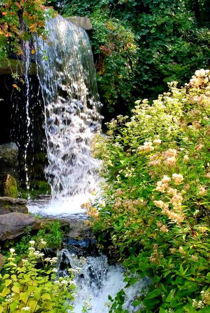 Bild mit Entspannung am Wasserfall