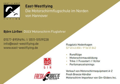 East-Westflying Motorschirmschule