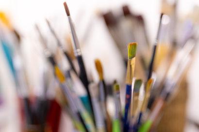 Kunsttherapie, Bild, Handmade, weiss, grün, Acryl, abstrakt