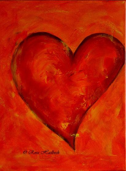 Acrylbild, acryl, herz, liebe, rot, geschenk, geschenkidee, liebe, bilder, bild, malen, malerei, kunst, deko, dekoration, wandbild, abstrakt