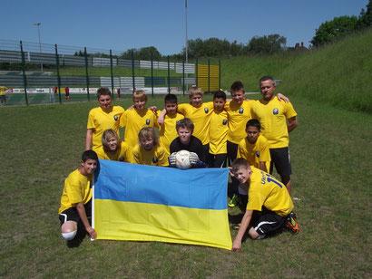 Die D-Jugend des FC Batenbrock (Ukraine). Foto: Sebastian Matheus