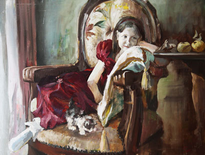 "Dolondutsky Alexandr, ""Mädchen"", Öl auf Leinwand,  90 x 120 cm, 2011, gerahmt"