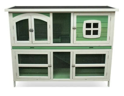 SAGE GREEN DOUBLE HEIGHT HUTCH AVAILABLE FROM THURSDAY 7TH OCTOBER PRICE TO FOLLOW.