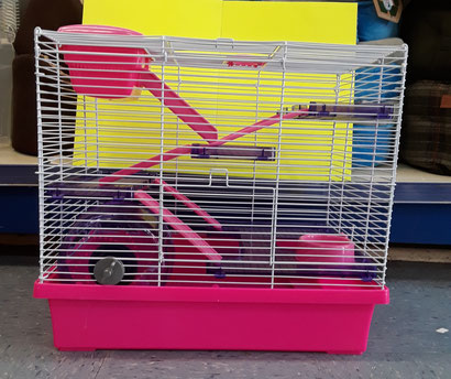 PICO XL SYRIAN HAMSTER CAGES AVAILABLE IN PINK AND TRANSPARENT TEAL £36.99 EACH