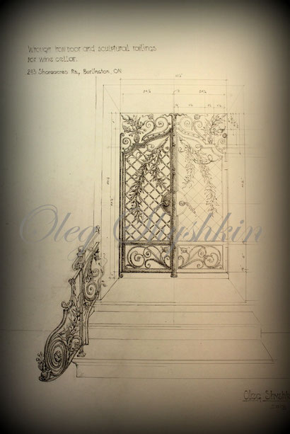 wrought iron gates and railing. design by Oleg Shyshkin