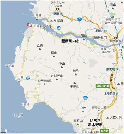 薩摩川内市地図