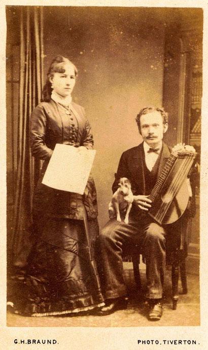 Cithare anglaise, vers 1870