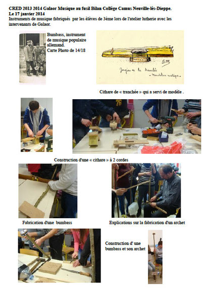 """Atelier de lutherie """"poilusienne"""" à Neuville-lès-Dieppe"""