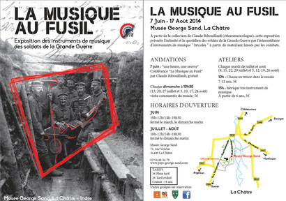 """Visuel de la prochaine exposition """"La musique au fusil"""", à La Châtre (Indre)"""
