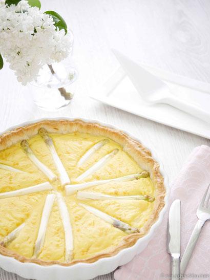 Spargel-Kartoffelpüree-Kuchen