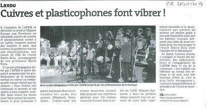 ER du 26 janvier 2014 - Projet Plasticophones