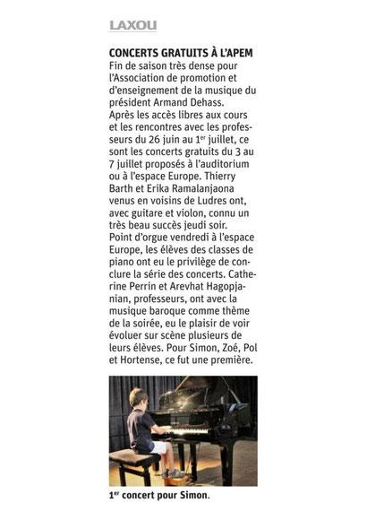 ER mardi 11 juillet 2017 - Concert des pianistes