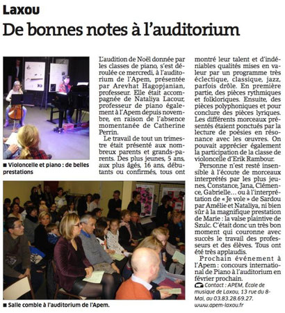 ER du 21 déc 2015 - Audition des classes de piano
