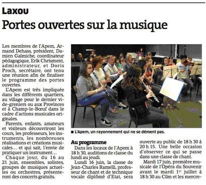 ER du 3 juin 2014 - Répétition de l'opéra du Souvenir