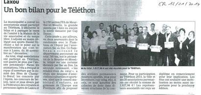 ER 12 janvier 2014- Bilan du Téléthon
