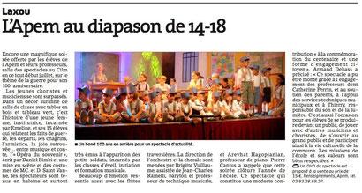 ER 7 juillet 2014 - Représentation de l'Opéra du Souvenir