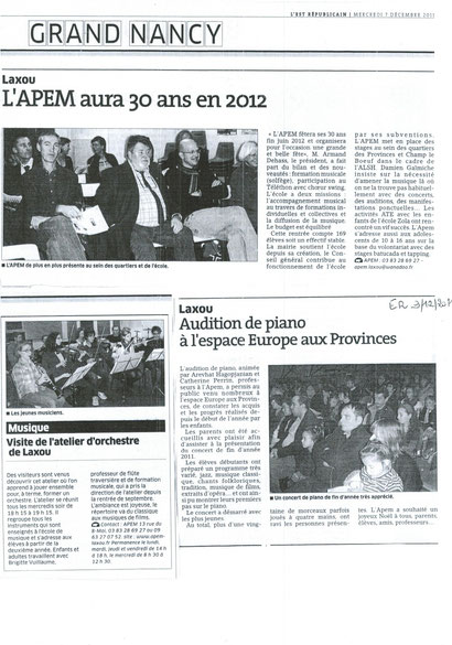 AG  et auditions  / 7 et 9 décembre 2011