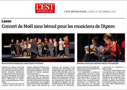 ER du 17 déc 2015 - Concert de Noel au CILM