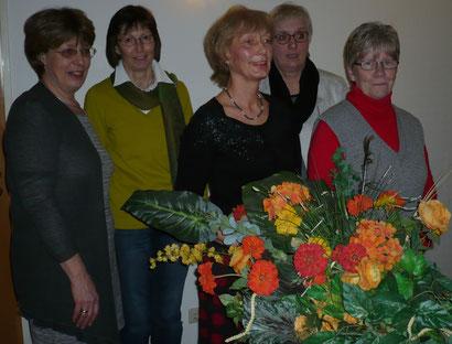von links : Heike Schinkel, Inga Marckmann, Heidi Kieselbach, Annegret Haß und Angelika Duwe