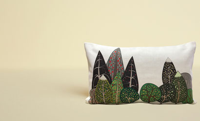 森のクッション ヒノキの香り 北欧デザイン