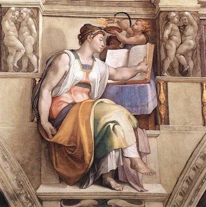 "Michelangelo, ""Sibilla Eritrea"", Cappella Sistina"