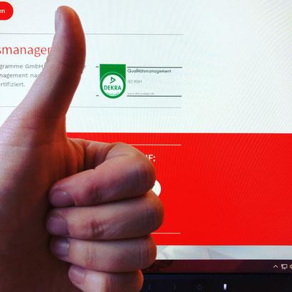 Auch in diesem Jahr haben wir unser QM Zertifikat erfolgreich, ohne Fehler und trotz widriger Umstände erhalten. #stolz #QM #Teamleistung