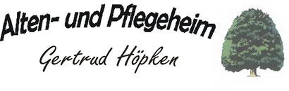 Logo Alten- und Pflegeheim Gertrud Höpken, Rastede (Oldenburg)