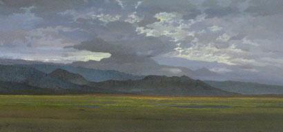 "Martin Guido Becker, ""Ebene"", 2007, Öl/Lwd, 60/130 cm"