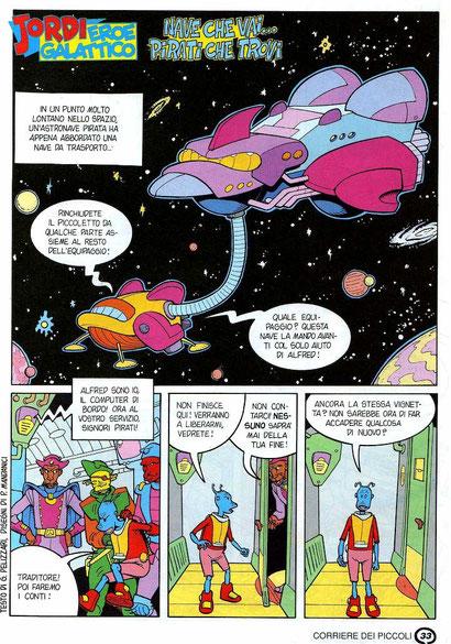 """Tavola da """"Jordi eroe galattico"""" - Il Corrierino - 1994"""