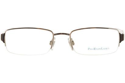 Occhiali da vista Polo Ralph Lauren uomo 1101. Colore: 9001 argento. Forma: rettangolare. Materiale: metallo.