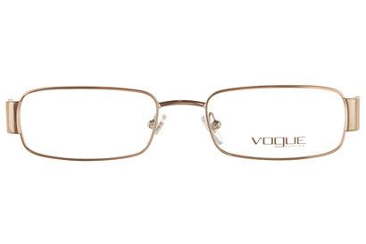 Occhiali da vista Vogue donna 3690. Colore: 835 oro. Forma: rettangolare. Materiale: metallo.