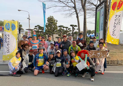 姫路城マラソン2019 メリパナイトランと中ノ島ナイトランのメンバーを中心にラン友さんとエール交換しました~松岡さん.com