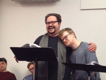 Brian Silliman (left) and Steven Boyer in the reading of VAN GOGH AMONG THE HIPSTERS by Larry Kunofsky