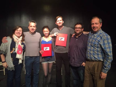 The cast and creatives of THE SNOWMAKER by Aleks Merilo