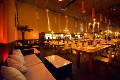 Heaven Münster wunderschön gestaltetes Restaurant mit Chilloutecke