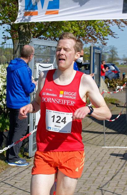 Mit Streckenrekord im Ziel: Marco Giese