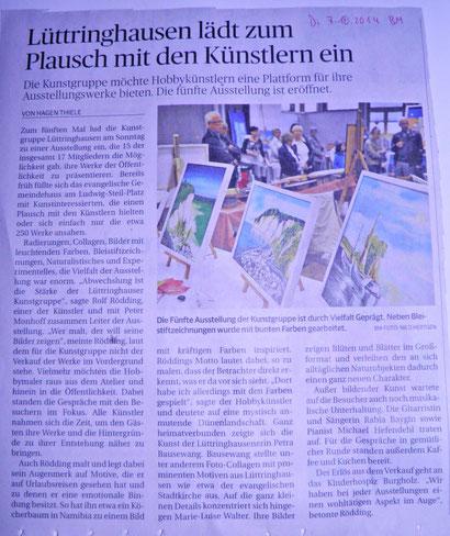 Vernissage Kunstgruppe Lüttringhausen