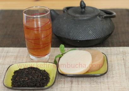 préparation kombucha