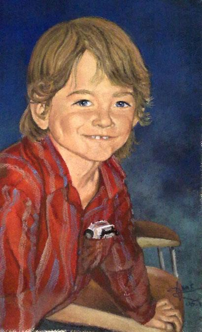 Mon fils, 2010, 50x60 cm, privé
