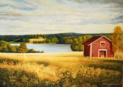 Acryl- Ölmalerei auf Baumwollkeilrahmen 50 x 70