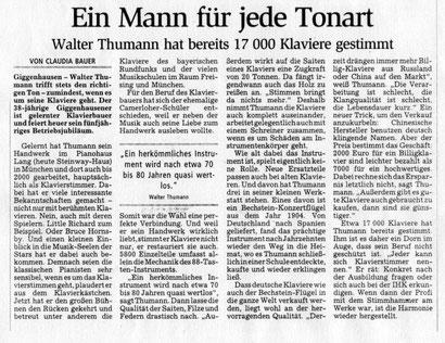 Bericht im Münchner Merkur, 08.08.05