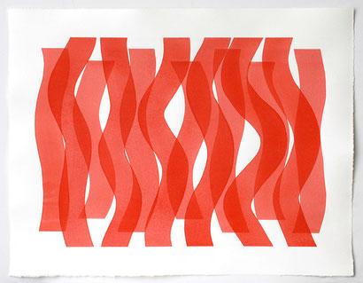 Überlagerung 5 I Tusche auf Bütten I 50 x 65 cm