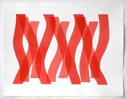 Überlagerung 6, 2012 I Tusche auf Bütten I 50 x 65 cm