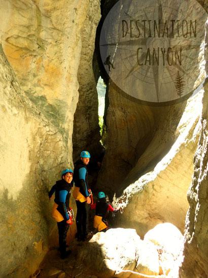 Canyoning vercors diois rio sourd destination canyon.com isère drôme hautes alpes canyon rando aquatique descente en rappel initiation aventure aquatique été