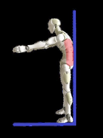 フラットバックは腰-壁の隙間が狭い