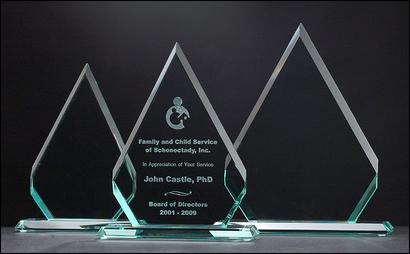 Jade Diamond Glass Awards
