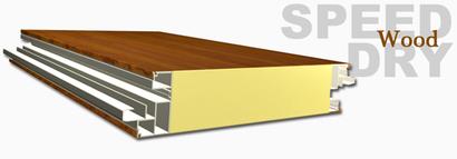 Techo panel sandwich madera