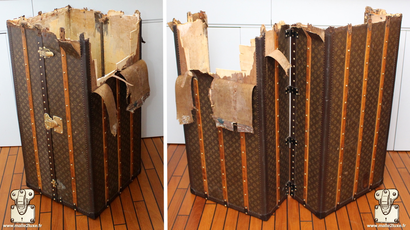 louis vuitton wardrobe cabin trunk destroyed